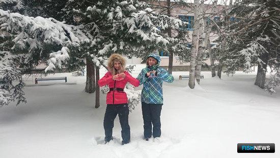 На следующий день после лыжных гонок наступила настоящая зима