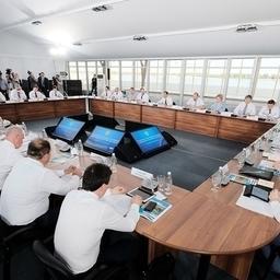 Совещание о сохранении, предотвращении загрязнения и рациональном использовании Волги. Фото пресс-службы Правительства РФ