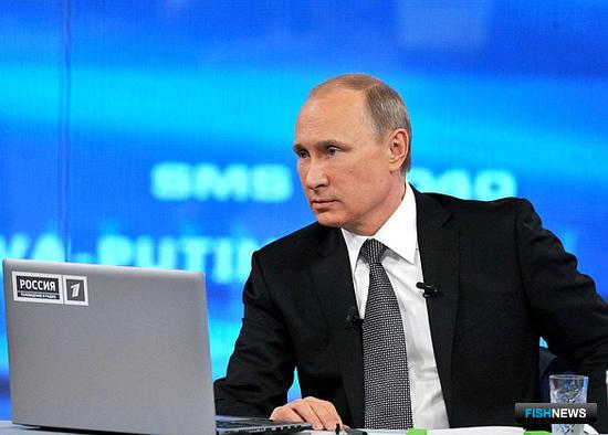 Прямая линия с президентом РФ Владимиром ПУТИНЫМ. Фото пресс-службы Кремля