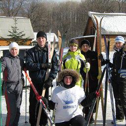 Лыжники Дальрыбвтуза перед стартом