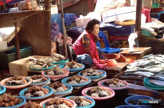 Рыбный рынок в Южной Корее