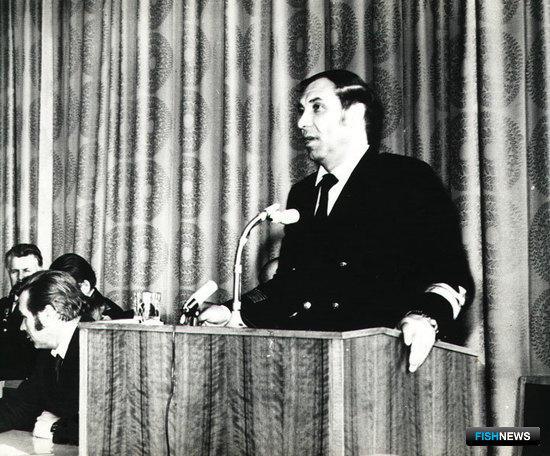 Юрий МОСКАЛЬЦОВ на Коллегии Минрыбхоза СССР
