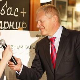 Руководитель Росрыболовства Андрей Крайний и управляющая сети ресторанов Наталья Филимонова