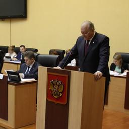 Губернатор Владимир ИЛЮХИН отчитался о работе краевых властей за 2016 г. Фото пресс-службы правительства Камчатки