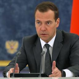Премьер-министр Дмитрий Медведев на заседании Правительства. Фото пресс-службы Правительства РФ