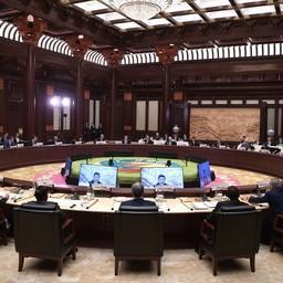 Круглый стол в рамках форума «Один пояс, один путь» прошел в Пекине. Фото пресс-службы президента РФ
