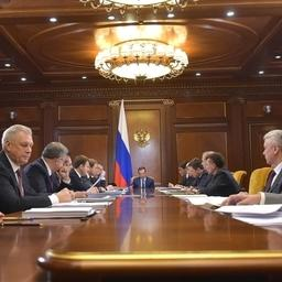 Заседание президиума Совета при президенте Российской Федерации по стратегическому развитию и приоритетным проектам. Фото пресс-службы правительства