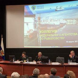 Первый заместитель Председателя Правительства РФ Виктор ЗУБКОВ выступает на расширенной коллегии Росрыболовства