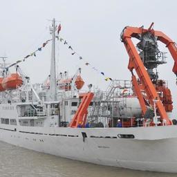 В юго-западную часть Индийского океана отправилась китайская научная экспедиция с глубоководным обитаемым батискафом «Цзяолун». Фото информагентства «Синьхуа».