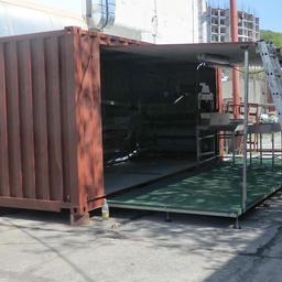 Компактный цех первичной рыбопереработки смонтирован на базе 20-футового контейнера. Фото ООО «Технологическое оборудование»