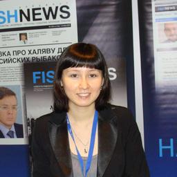 Анна ЛИМ – шеф-редактор РИА Fishnews.ru на стенде медиахолдинга Fishnews