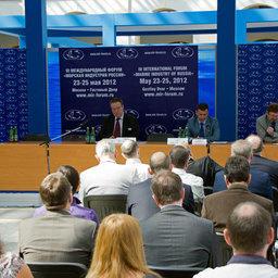 Круглый стол по вопросам судостроения на Международном форуме «Морская индустрия». Москва, май 2012